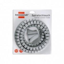 BRENNENSTUHL Gaine spirale pour câbles, longueur: 2,5 m Diam 20 mm Gris