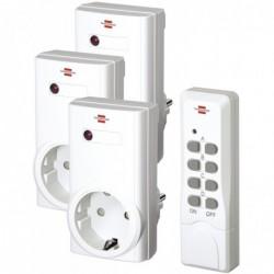 BRENNENSTUHL Kit 3 Prises Télécommandées RCS N 1000 Comfort Blanc
