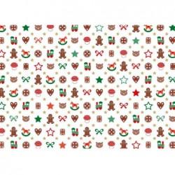 """SUSY CARD Rlx Papier Cadeau Noël """"Little Toys"""" 57g 70 cm x 2 m"""