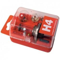 UNITEC Coffret de 8 pièces 5 ampoules/ 3 fusibles rechange automobile H4