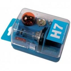 UNITEC Coffret de 7 pièces 5 ampoules / 2 fusibles de rechange automobile H7