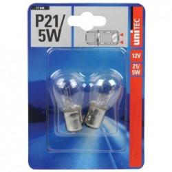 UNITEC Blister de 2 Ampoules voiture Feux arrières et Stop 12 Volts P21/5 Watt