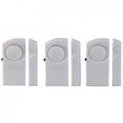 UNITEC jeu de 3 alarmes d'intrusion pour portes et fenêtres, avec contact magnétique
