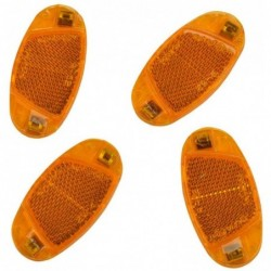 FISCHER Kit de réflecteur pour rayons de vélo, orange