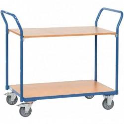 FETRA Chariot 2 plateaux bois 200 Kg (L)1030x(l)500x(H)1020mm