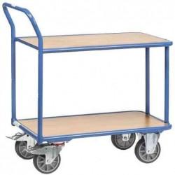 FETRA Chariot 2 plateaux bois 400 Kg (L)1120x(l)705x(H)968mm