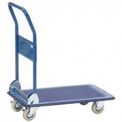 FETRA Chariot rabatable à plate-forme 76 x 50 cm en tôle d'acier 150 kg roue 100 mm