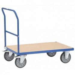 FETRA Chariot transport avec poignée pliable 600 kg Plateforme 1000 mm x 700 mm