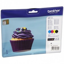 BROTHER Multipack 4 Cartouches Encre Originale LC123 4 Couleurs