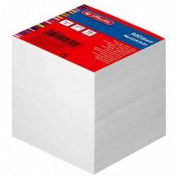 HERLITZ Bloc de fiches Herlitz, 90 x 90 mm, blanc, 80 g/qm