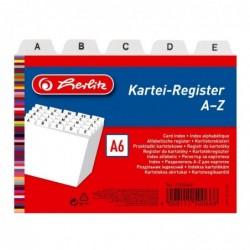 HERLITZ Jeu de 24 Index alphabétique PP A6 en Largeur Blanc