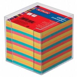 HERLITZ Boîtier pour bloc-notes, en plastique, 90 x 90 mm, transparent