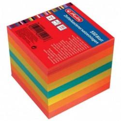 HERLITZ Recharge 550 Feuilles pour boîtier de bloc cube 90 x 90 mm, Coloré