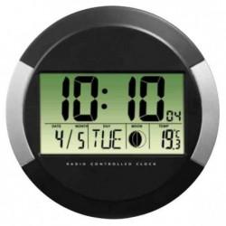 """HAMA horloge radio pilotée """"PP245"""" Diam 245 mm Plastique Noir"""