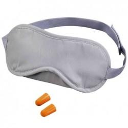 HAMA kit de voyage sommeil masque sommeil rembouré gris