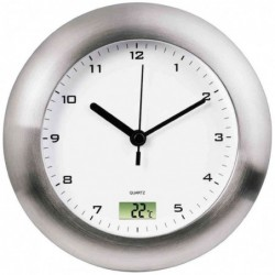"HAMA Horloge murale ""Salle de bain"" horloge Quartz argent"