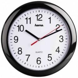 """HAMA horloge murale """"PP250"""" quartz avec affichage analogique noir"""