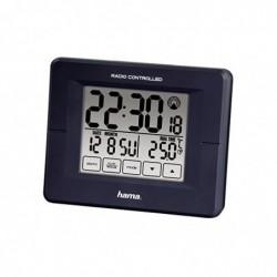 HAMA Radio Reveil alarmeRC800 horloge Radio Pilotée DCF Bleu