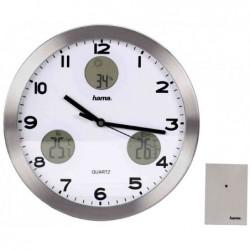 """HAMA Horloge murale """"AG-300"""" montre quartz argent"""