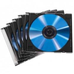 HAMA Lot de 20 Boîtiers vides CD/DVD Slim case Transparent
