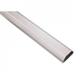 HAMA Cache-câbles en aluminium arêtes saillante 5/2,6 cm 1,1 m Argenté