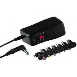HAMA Bloc d'alimentation 1000 mAh stabilisé, tension commutable de 3 /4,5 / 5 / 6 / 9 / 12V, polarité inversable