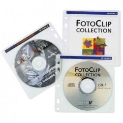HAMA Pochette CD/DVD, pour 2 CD/DVD, PP, transparent Lot de 40