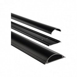 HAMA Cache-câble semi-rond autocollant longueur: 1,0 m noir