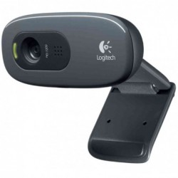LOGITECH HD WebCam C270, focus fixe, port USB, conversations