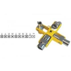 C.K clé cruciforme universelle pour amoires électriq.,9 en 1