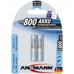 ANSMANN accu NiMH maxE, Micro (AAA) 800mAh, Blister de 2
