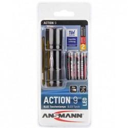 """ANSMANN Lampe de poche LED """"ACTION 9"""", avec piles"""