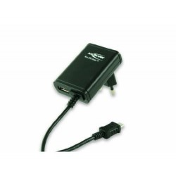 ANSMANN Chargeur micro USB Noir + port USB