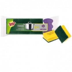SCOTCH BRITE Pack de 3 Eponges Tampon Classic 1 Eponge Stay Clean Gratis