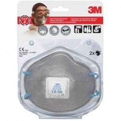 3M Sac de 2 Masques respiratoire 9922C2, classe de protection FFP2