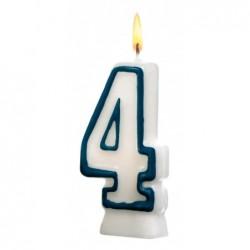 SUSY CARD Bougie D'anniversaire en cire H 85 mm chiffre N° 4