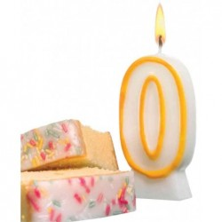 SUSY CARD Bougie D'anniversaire en cire H 85 mm chiffre N° 7