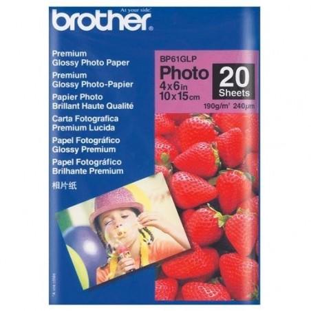 BROTHER Papier photo brillant 10 x 15 cm 20 feuilles 190g