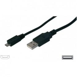 câble USB 2.0 noir 2,0 m USB A - micro USB B