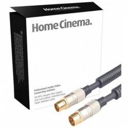 SHIVERPEAKS PROFESSIONAL Câble d'antenne Coaxial Blindé Contact doré 2 m