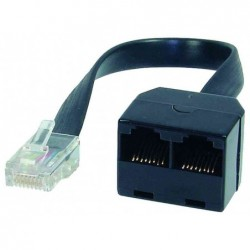 SHIVERPEAKS BASIC-S Adaptateur ISDN en Y 0,1 m Noir