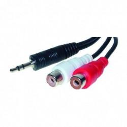 SHIVERPEAKS Câble audio 2 prises cinch RCA femelles - Jack Mâle 0,2 m