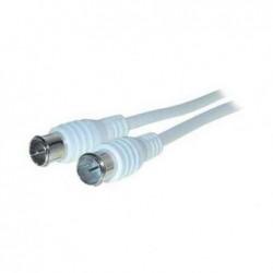 SHIVERPEAKS BASIC-S câble d' antenne Mâle-mâle 2,5 m blanc