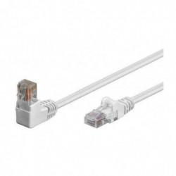 SHIVERPEAKS Cable patch BASIC-S cat. 6, S/FTP 1 fiche coudée 1 m Blanc