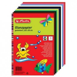 HERLITZ paquet de 10 feuilles de papier brillant, 200 x 300 mm Coloris Assortis