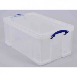 REALLY USE BOX Boîte plastique 64 L transparent incolore, recyclé, couvercle amovible