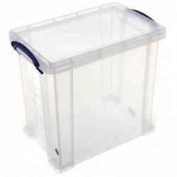 REALLY USE BOX Boîte  plastique 19 L transparent incolore, recyclé, couvercle amovible