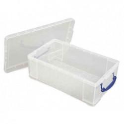 REALLY USE BOX Boîte  plastique 12 L transparent incolore, recyclé, couvercle amovible