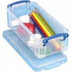 REALLY USE BOX Boîte de rangement en plastique 0,90 litre (L)220 x (P)100 x (H)7 mm Transparent