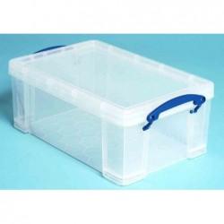 REALLY USE BOX Boîte  plastique 9 L transparent incolore, recyclé, couvercle amovible